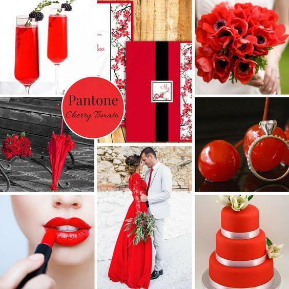 I 12 colori moda per chi si sposa nel 2018 - Cherry Tomato – Pantone 17 – 1563 - www.lindapiccolo.com